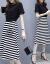 夢伊青の長袖ワンピース2019春新品韓国版ファッションビッグサイズの女装プリントを収めてウエストが見えるスタイルのスーツの中の長めのタイトの丸い襟の網の糸のスカートの2点セットの図の色S