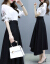 ドリームアイの半袖ワンピース2019春NEW韓国版ファッションビッグサイズの女装プリントを収めてウエストが見えるスタイルのスーツの中の長めのタイトの丸首の網の糸のスカートの2点セットのカラーS。