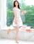 ドリームブルーの新作レースワンピース2019春夏NEW韓国版ビッグサイズの女装テートセクシー中のロングアイテムのニトワンピースファッションセットの偽の二点セット
