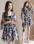 思恒レースのワンピース2019春夏NEW新品韓国版タトの大きいサイズの婦人服がやせた雰囲気を見せてくれます。コットンのセクシーなショッツァーの2点セットのファッションスーツの女性のスカートの画像色3 XL