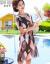 秋芙羅2019 NEWお母さんは夏服の半袖の色合わせワンピースを着ています。夏チョーゼットの薄手の中年婦人服の涼しい膝越しスカートQ 37909341の色の2 XL【おすすめ105-15斤】