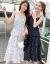 情ローランド吊りワンピースVネックのチョーゼットが細い白黒のアクセントを見せてくれます。ティア・ドゥスト多層2019夏新品の女装スカート黒XL