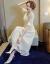 韓採西2019夏新品Vネックのセレブ気質タトスカートは女性らしいレースワンピース2096カーキ色L(100-110斤をおすすめします)