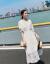 シングルの蜜の半袖のワンピースの婦人服2019夏の新商品の中で長いモデルの韓国版のファッションはやせているタトの2つのスーツのスカートのピクチャー色Mを現します。