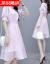 私達倪晟納半袖ワンピース女装2019夏NEW韓国版タト顕やせセクシーウエストa字スカート網紗カジュルスーツのローリングカートピンクM