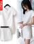 Vekee's女装ワンピス2019夏新品韓国版スリムで柄柄のマットであるファンシーショッの中に長さのスカト2点セトの白S