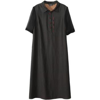 ハイエンドの重さもあります。シルクのシフォンワンピース女性2019夏NEW復古刺繍桑蚕糸スカート黒Lは5日間前に発売します。