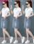 初暗渠ファッションスーツ女性ワンピース2019夏服NEW韓国版テート上着デニムショットスカート2点セット