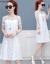 【工場直供】モミジ紫2019春夏NEWガーゼ気質ワンピースファッション女装韓国版ゆったり中丈スカートFZ 7489白S