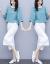 谷顔のワンピース夏2019年夏新品韓国版ファッションビッグサイズ、ゆったり半袖Tシャツ綿のカジュアの文芸の2つのスーツの中で長いタイプの学生スカートG 509のピクチャーカラーS