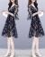 ITIFYOU ITFU香港ファッションブランドワンピース夏NEW女装2019ヴィンテージタートルが見えるスリムな雰囲気の中、長花チョーゼルスカート天女スカート黒S