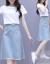 香菲ti拉カウボーイワンピース2019夏新品のビッグサイズの女装韓国版タトはやせている気質が小さくて清新で洋気が少なくなります。