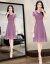 品質がいいです。【特別仙】ジバトのワンピース女性夏2019 NEW中の長い香港風夏の雰囲気女史端正で上品な紫のスカートあんずがオススメです。105-15斤