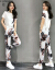 芳芭の女装ワンピース2019夏服女性NEWファッション韓国版が明らかに痩せています。夏の新作は夏のスカート仙女半袖上着のカジュアルの2つのセットの女性F 801白Sです。