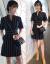 ワ族宝莉香港潮牌職業装気質女神范性感工装ファッションスーツのワンピース。