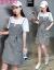 艾可韓版の小さい背のガーターのワンピース2019 NEW夏の女装のにせの2つのセットのファッションの気質のワンピースのスーツの白色M