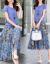 ザク族ジゼルのワンピース2019夏NEWビッグサイズの婦人服韓国版の2つのセットのスカートのファッションが痩せている新商品のローグストスミレL