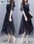 ペンニョンユアのワンピースの女性のワンピースの小花ジグゼ夏の2019 NEWの女装ファッションの韓国版の2つのスーツの気質は超仙のワンピースのビーチスカートの女性の黒(3066項)L(オススメ105-15斤)です。