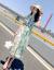 XZOOジゼルワンピース2019女装夏NEW花柄タウト中丈スカート女性画像色S