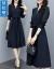 ドリームラティ秋のワンピース2019 NEW女装Vネックウエストが細く見えるボトムスフレンチ長袖エレガントなシャツチョーゼットスカート女性m 18イメージカラーL
