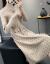 フランス姿ディニのワンピース2019秋冬の女装NEW韓国版ファッション長袖の中に長いスタイルの毛糸のスカートが膝を過ぎて、テートが痩せていることが分かります。大きいサイズの女性がボトムを打つ色Lサイズは105-115斤ぐらいを提案します。