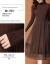 YAYAアヒルの服の女装ワンピース2019秋冬NEWファッションの大きいサイズのニートスカートは腰を収めて明らかにやせています。底付きのセーターの女性は韓国版の2つのセットのスカートの女性はコーヒー色L【100-115斤が似合います】