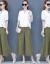 綿麻セット女性2020夏服NEWファッション韓国版半袖ワイドカージュルリンネル2点セットのレンガ赤XL(おすすめ115-15斤)