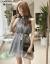 春の夏の女装が仙々としているシエル・ヴィーナのワンピース。ショルゼル学生の小柄で清新なウエストにキキョウの字を基調とした灰色のスカート。