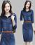 【良い品質】【高品質】2020春夏NEWデニムワンピース女性ローリングカート夏季タウトが痩せているので、ウエストの中にロングスタイルのデニムスカートの雰囲気が深くて浅い青XL(115-125斤をおすすめします)