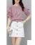 北極絨ワンピースセット2020春夏NEW韓国版ファッションシャツ半袖Tシャツ女性+半身スカートテート痩せて見える百選シート型スカウトピンクM