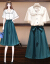 裳黎ワンピース女性2020春夏NEW女装ファッション気质お腹を隠して痩せる洋気减齢2枚セットスカート台型スカウト子供春スタイルYS-216枚セット4 XL