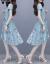 森卡露ワ-ス夏服2020 NEW女装ビレッズフ・ファンシー半袖夏小柄で优しい风にウエストを缔めて年齢が下に见える痩せせせせせせせせせぶりぶりぶります。