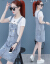 雪姫蓮ファッションデニムのサロペトート女性セット2020年夏NEWスカート洋風ワンピースセット女性ファッション