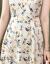 服典零一2020夏服NEW夏ファッション女装スタイルが格段に痩せています。夏はVネック半袖の桑蚕糸重さポンドのシルクワンピースの中に長めの花柄a字のスカートの色は白XLです。