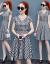 芙綺姿ジバトワンピース女性2020夏服新品NEWビッグサイズ婦人服韓国版タイが痩せて見える中、ロングスタイルのスカウトがセクシーと偽の2つセットのファッションスーツワンピースワンピースの女性画像色M
