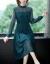 秀思薇春秋NEWビッグサイズの婦人服お母さんレースのワンピースファッションのハイエンドのセレブ気質の減齢打底スカートのソバカス3 XL