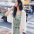 AUDDE 2020夏ワンピース女性2点セット女性スーツスカートサスペンダーワンピース夏柄花柄ショーケーススカートzx 1231-838黒+米S