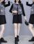 影の服の翻るワンピースに従って2020秋にNEW女装のカウボーイのベストのTシャツのワンピースの2つのセットの女性のファッション的なスーツのワンピースの写真の色に従って自分のサイズを選びます。
