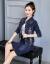 星の光のワンピース2020秋冬NEW婦人服韓国版タトファッションの大きいサイズの2つのスーツのレースの下地が見えるやせた長袖のデニムコートの中の長いデニムのスカートの子供の画像の色S