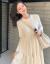 索碩のワンピースネットの赤いinsは2つのスーツを超えて港風の復古の婦人服の女神の范のワンピースの女性は2020秋に軽くて熟している御姉さんの秋の服装のセーターのニートーの半身のスカートの米白色のM【現物は収集して買って優先的に出荷します】