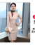 特洛曼スーツのワンピーススーツの女性2021春の雰囲気の中で長い職業のスーツのスカートの正式な場所は端正で雰囲気が整っています。